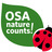 Osa  nature counts logo